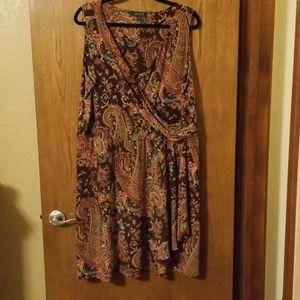 Cross top dress and wrap bottom